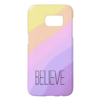 cute bright neon brushstrokes unicorn colors samsung galaxy s7 case