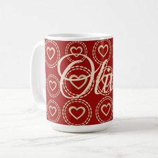 Cute Bright Sweet Heart Add Name Mug