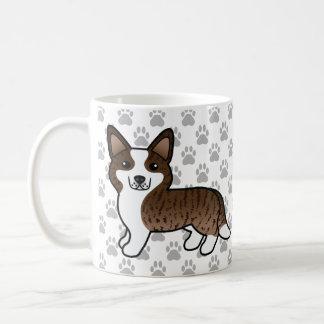 Cute Brindle Cardigan Welsh Corgi Cartoon Dogs Coffee Mug