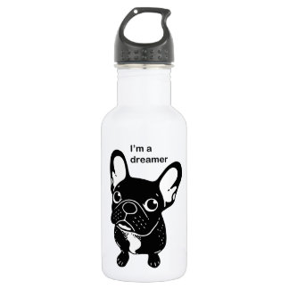 Cute brindle Frenchie is a dreamer 532 Ml Water Bottle