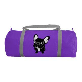 Cute brindle Frenchie is a dreamer Gym Bag