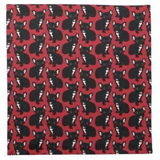 Cute Brindle Frenchie Puppy Napkin