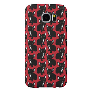 Cute Brindle Frenchie Puppy Samsung Galaxy S6 Cases