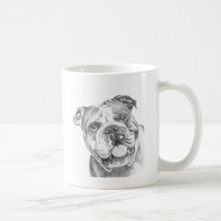 Cute British Bulldog mug by Tracy Stone
