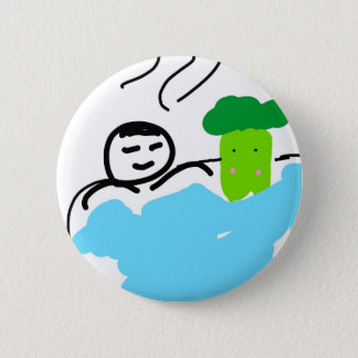 Cute Broccoli in Hot Springs 2 Inch Round Button
