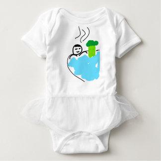 Cute Broccoli in Hot Springs Baby Bodysuit