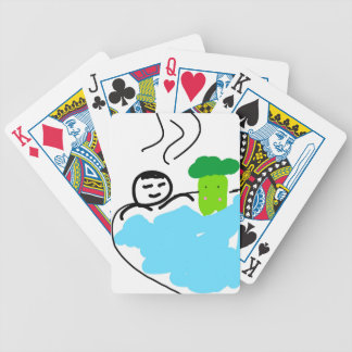 Cute Broccoli in Hot Springs Bicycle Playing Cards