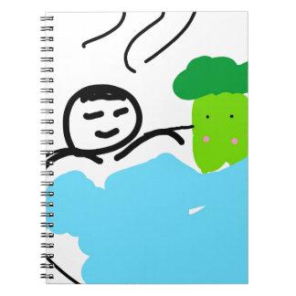 Cute Broccoli in Hot Springs Notebooks