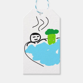 Cute Broccoli in Hot Springs Pack Of Gift Tags