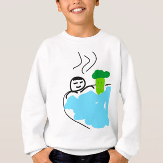 Cute Broccoli in Hot Springs Sweatshirt