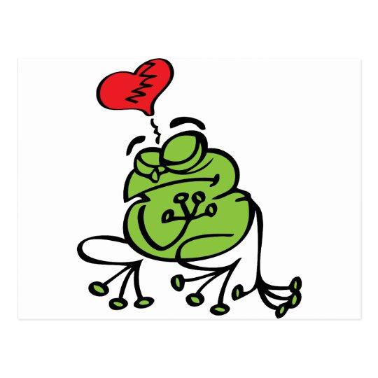 Cute Broken Heart, Anti Valentine's Day Frog Postcard