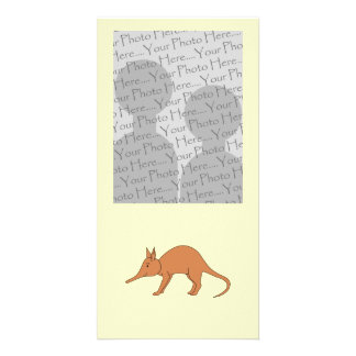 Cute Brown Aardvark Card