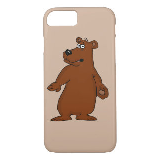 Cute brown bear design iPhone cases