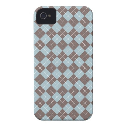Cute brown blue argyle pattern blackberry bold blackberry bold cover