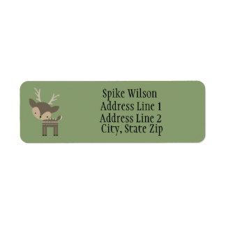 Cute Brown Buck Deer Custom Return Address Labels