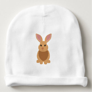 Cute Brown Bunny Rabbit Infant Baby Beanie