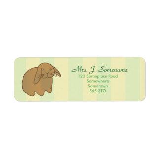 Cute Brown Bunny Return Address Label
