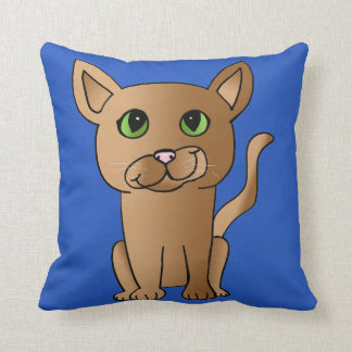 Cute Brown Cat Pillow