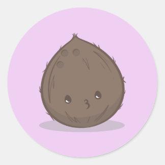 Cute Brown Coconut Sticker