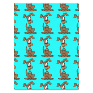Cute Brown Dog Pattern Tissue Paper