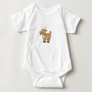 cute brown goat baby bodysuit