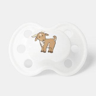 cute brown goat pacifier