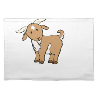 cute brown goat placemat