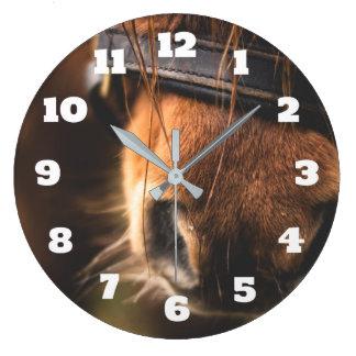 Cute Brown Horse Nose Wall Clock