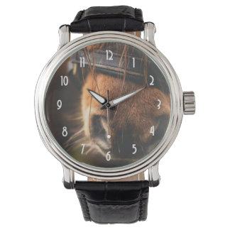 Cute Brown Horse Nose Wristwatch