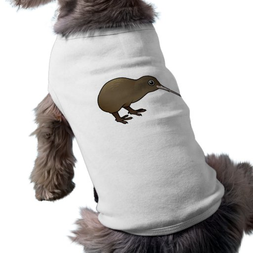 Cute Brown Kiwi from New Zealand Pet Tshirt