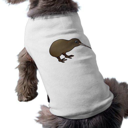 Cute Brown Kiwi from New Zealand Pet Tshirt