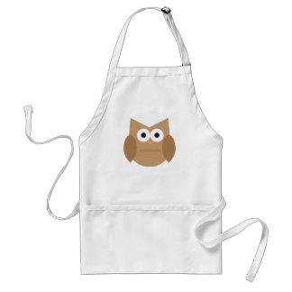 Cute Brown Owl Apron