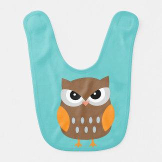 Cute Brown Owl Bibs