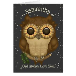 Cute Brown Owl Card