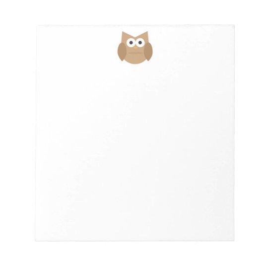 Cute Brown Owl Notepad
