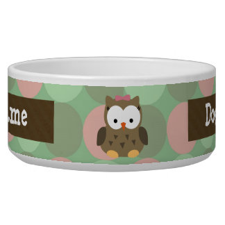 Cute Brown Owl w/Pink Bow