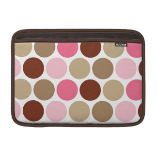 Cute Brown & Pink Polka Dots MacBook Air Sleeve