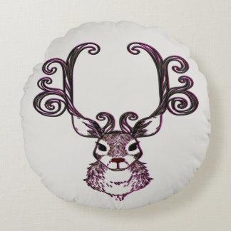 Cute brown pink Reindeer deer Cottage pillow