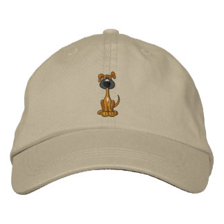 Cute Brown Puppy Dog Embroidered Hat