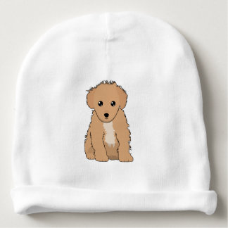 Cute Brown Puppy Infant Baby Beanie