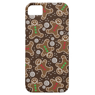 Cute Brown Red Green Christmas Gingerbreads iPhone 5 Cover