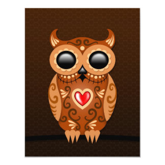 Cute Brown Sugar Owl Custom Invite