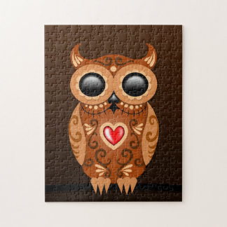 Cute Brown Sugar Owl Jigsaw Puzzle