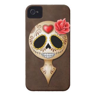 Cute Brown Sugar Skull iPhone 4 Case-Mate Cases
