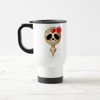 Cute Brown Sugar Skull Travel Mug
