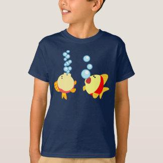 Cute Bubbling Cartoon Fish Children T-Shirt