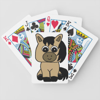 Cute Buckskin Horse Bicycle Playing Cards