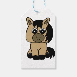 Cute Buckskin Horse Gift Tags