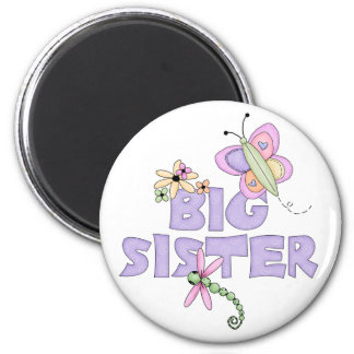 Cute Bugs Big Sister 2 Inch Round Magnet