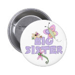 Cute Bugs Big Sister Button